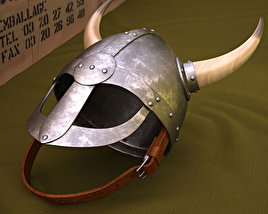3D model of Viking Helmet With Horns