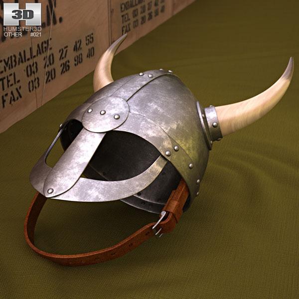 Viking Helmet With Horns 3D model