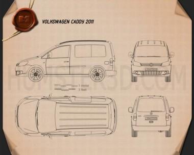 Volkswagen Caddy 2011 Blueprint