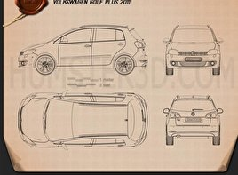 Volkswagen Golf Plus 2011 Blueprint