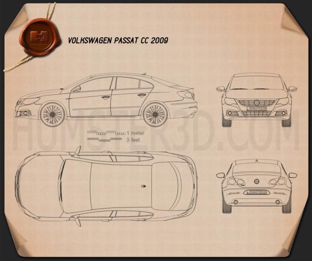 Volkswagen Passat CC 2009 Blueprint