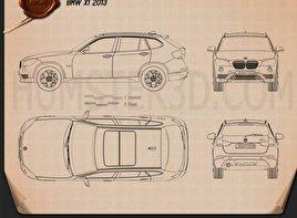 BMW X1 2013 Blueprint