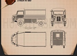 Citroen H Van 1980 Blueprint