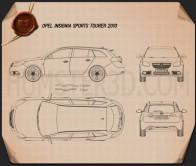 Opel Insignia Sports Tourer 2009 Blueprint