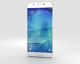3D model of Samsung Galaxy A8 Pearl White