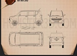 Kia Ray 2012 Blueprint