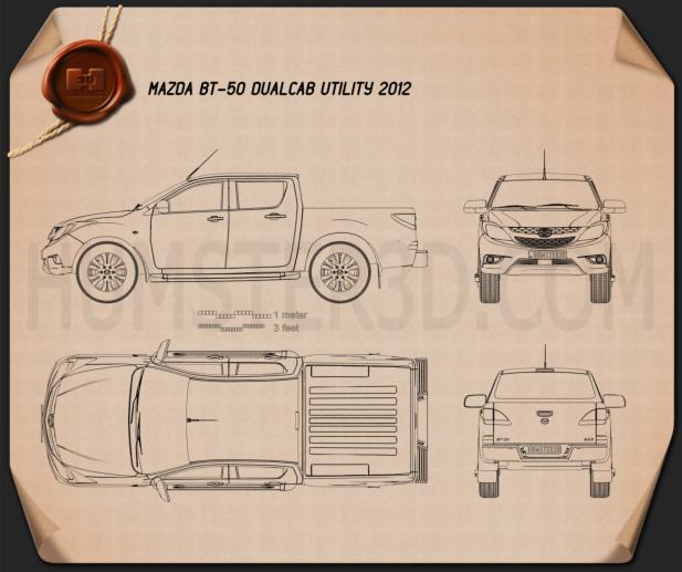 Mazda BT-50 Dual Cab 2012 Blaupause