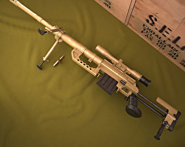 3D model of CheyTac Intervention M-200
