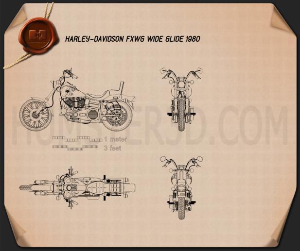 Harley-Davidson FXWG Wide Glide 1980 Plan