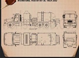 International Paystar Hot Oil Truck 2002 Blueprint