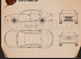Lexus ES hybrid (XV50) 2013 Blueprint