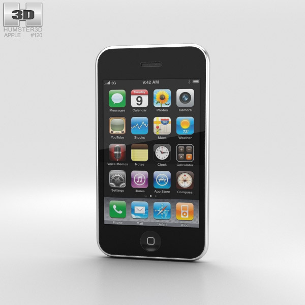 Apple iPhone 3GS White 3D model