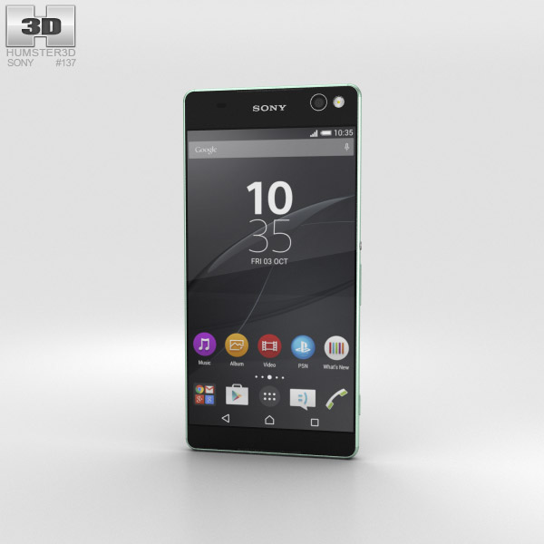 Sony Xperia C5 Ultra Mint 3D model