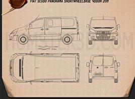 Fiat Scudo Panorama ShortWheelbase 4-door 2011 Blueprint