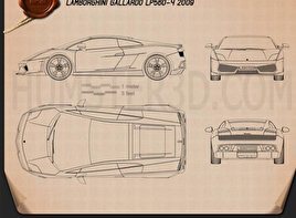 Lamborghini Gallardo LP 560-4 2009 Blueprint