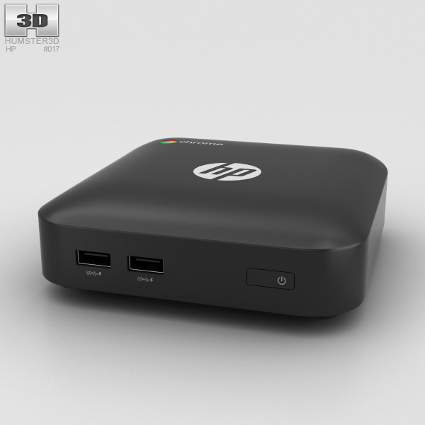 HP Chromebox Black 3D model