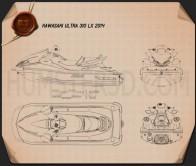 Kawasaki Ultra 310LX 2014 Blueprint