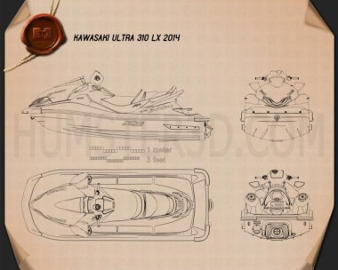 Kawasaki Ultra 310LX 2014 Blueprint