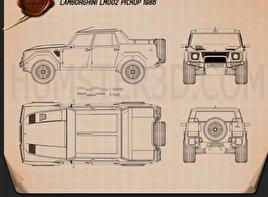 Lamborghini LM002 1986 Blueprint