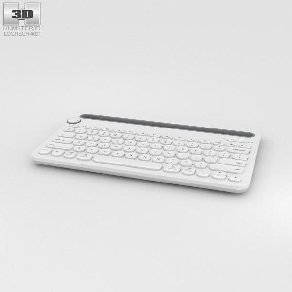 3D model of Logitech K480 White