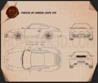 Porsche 911 Carrera Coupe 2011 Blueprint