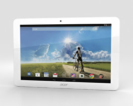 3D model of Acer Iconia Tab A3-A20FHD White