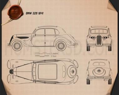 BMW 326 1941 Blueprint