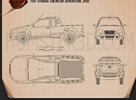 Fiat Strada Crew Cab Adventure 2012 Blueprint
