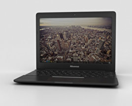 3D model of Hisense Chromebook Black
