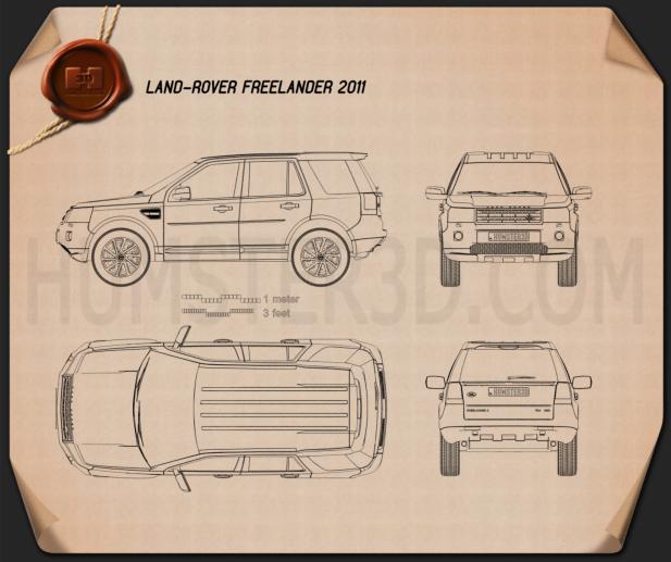 Land Rover Freelander 2 (LR2) Blueprint