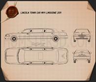 Lincoln Town Car Limousine 2011 Blueprint