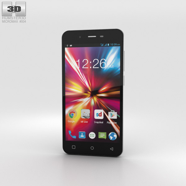 3D model of Micromax Canvas Spark Grey