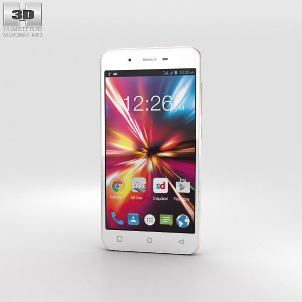 3D model of Micromax Canvas Spark White
