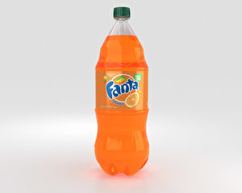 3D model of Fanta Bottle 2 Litre