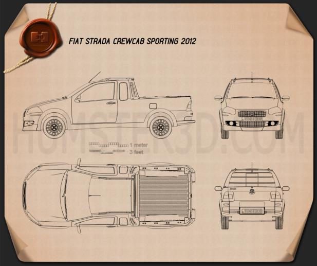 Fiat Strada Crew Cab Sporting 2012 Blueprint