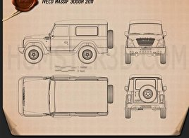 Iveco Massif 3-door 2011 Blueprint