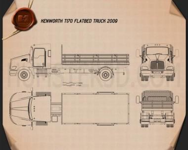 Kenworth T170 Flatbed Truck 2009 Blueprint