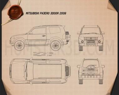 Mitsubishi Pajero 3-door 2009 Blueprint