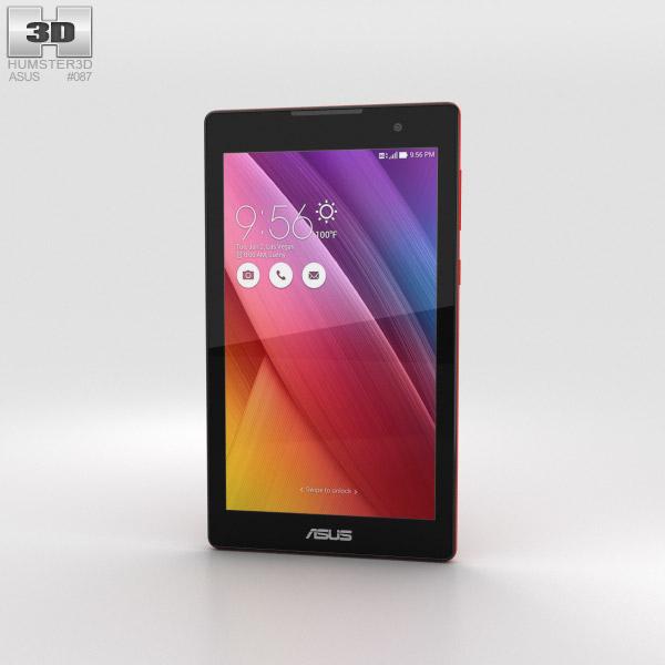 Asus ZenPad C 7.0 Red 3D model