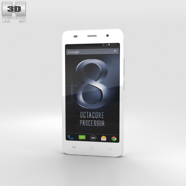 3D model of Lava Iris X8 White