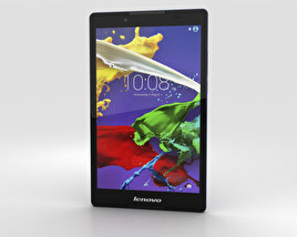 3D model of Lenovo Tab 2 A8 Midnight Blue