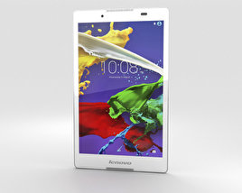 3D model of Lenovo Tab 2 A8 Pearl White