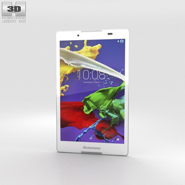 Lenovo Tab 2 A8 Pearl White 3D model