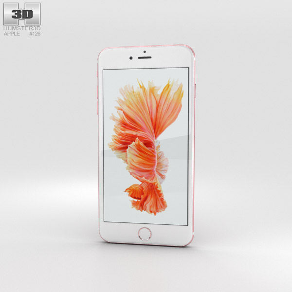3D model of Apple iPhone 6s Plus Rose Gold