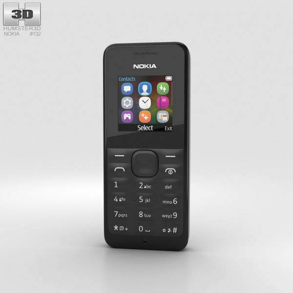 3D model of Nokia 105 Black