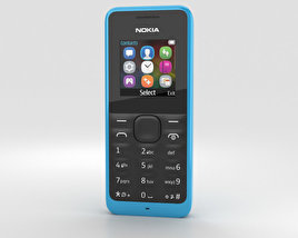 3D model of Nokia 105 Cyan
