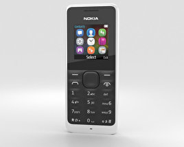 3D model of Nokia 105 White