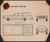 Ford Country Squire 1986 Blueprint