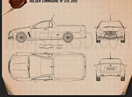 Holden VF Commodore Calais V UTE 2013 Blueprint