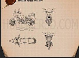 Kawasaki Versys 1000 2014 Blueprint